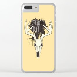 Care About Death Clear iPhone Case
