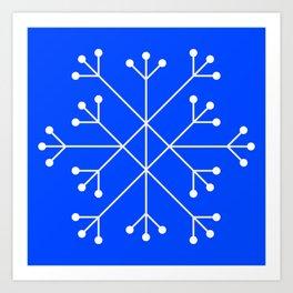 Mod Snowflake Blue Art Print