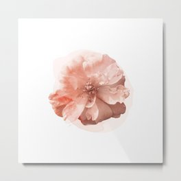 Orange Rose Watercolor Metal Print