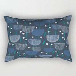 Botanical Block Print M+M Navy by Friztin Rectangular Pillow