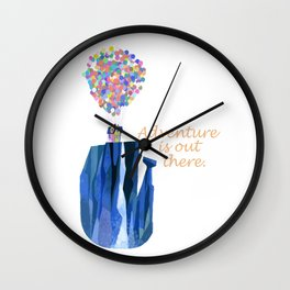Adventure is out there .. version two Wall Clock
