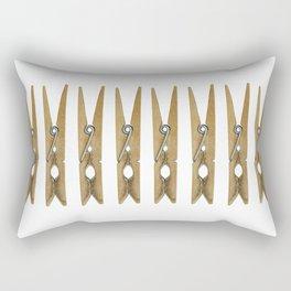 old clothes pins Rectangular Pillow