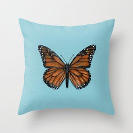 Monarch Butterfly Painting Throw Pillow