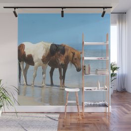 Watercolor Horse 49, Assateague Pony, Assateague, Maryland, The Beach Stroll Wall Mural