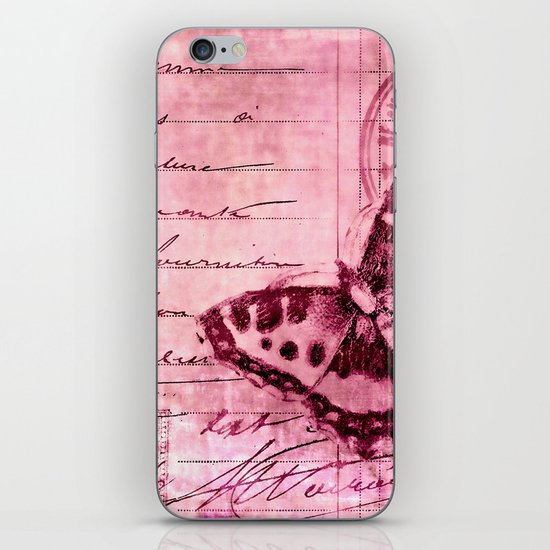 pink postage iPhone & iPod Skin