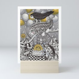 Roller Coaster Ride Mini Art Print