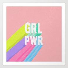GRL PWR (II) Art Print