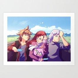 Three Best Friend Art Print