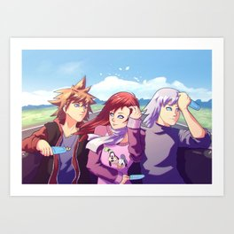 Three Best Friend Art Print