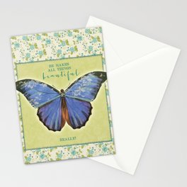 Fly By Faith Butterfly by Terri Conrad Designs Stationery Cards