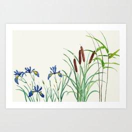 pond-side elegance Art Print