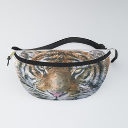 Tiger watercolor Fanny Pack