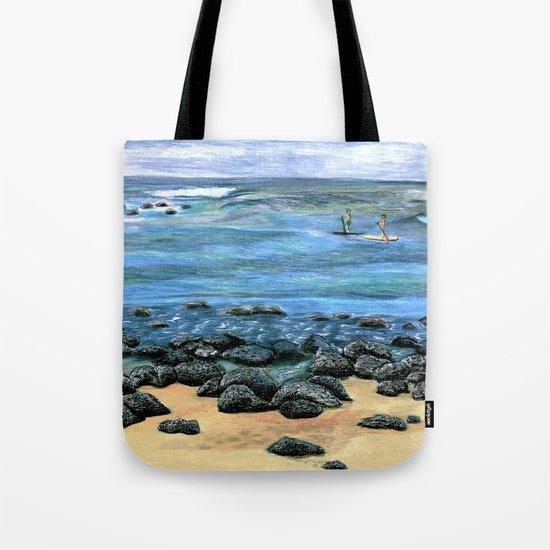 Poipu Beach Landscape Tote Bag