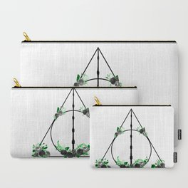 Deathly Hallows in Green and Gray Carry-All Pouch