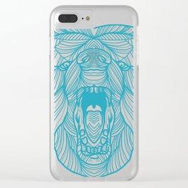 Bear Art Clear iPhone Case