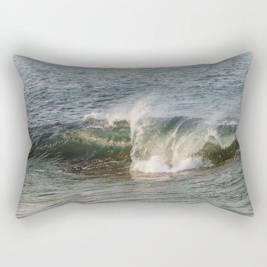 Wave at Bearskinneck Rectangular Pillow