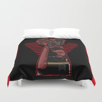 metal gear solid Duvet Covers featuring Metal Power Gear by Akyanyme