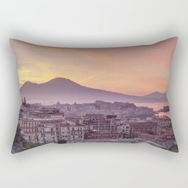 Napoli, landscape with volcano Vesuvio and sea Rectangular Pillow