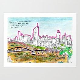 BRISBANE POSTCARD SERIES 004 Art Print