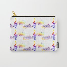 Musical colorful pattern 3 Carry-All Pouch