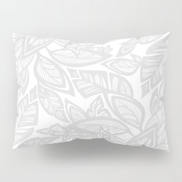 Let Love Grow - gray/white Pillow Sham