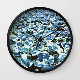 White Leaves 135mm Wall Clock