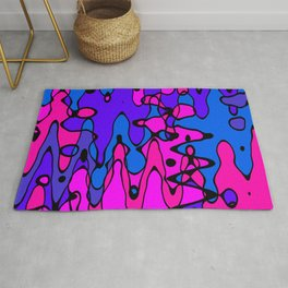 Purple Blue Pink Abstract Art Rug