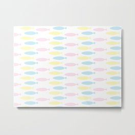 Colorful fishes pattern Metal Print