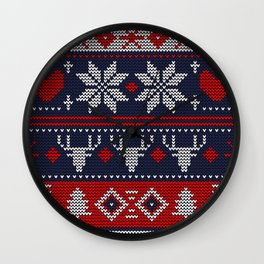 knitted pattern Wall Clock