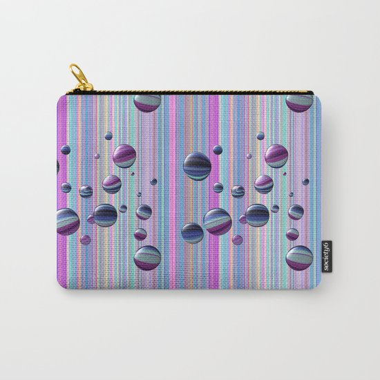 Сolored bubbles and stripes Carry-All Pouch