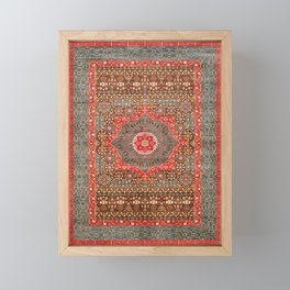 Traditional Boho Style Vintage Moroccan Design  Framed Mini Art Print