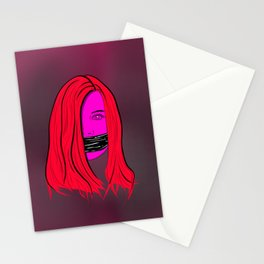 she's a good listener Stationery Cards