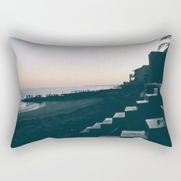 Sun Set Silhouette Rectangular Pillow