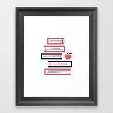 Stacked Books Framed Art Print