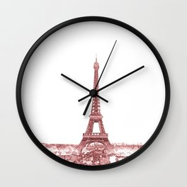 Paris Eiffel Tower Series II by Billy Bernie Wall Clock