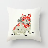 frenchie Throw Pillows featuring Frenchie. by ruffgaws