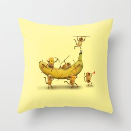 Monkeys are nuts! Throw Pillow
