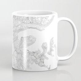 Mount Rainier, WA Contour Map In White Coffee Mug