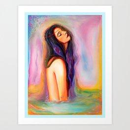 Nebula muse Art Print