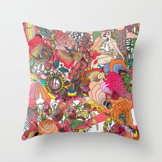 Of the Hare Meadow Throw Pillow