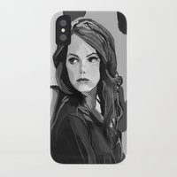 emma stone iPhone & iPod Cases featuring Emma Stone by Vito Fabrizio Brugnola