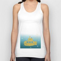 submarine Tank Tops featuring YELLOW SUBMARINE by ARCHIGRAF