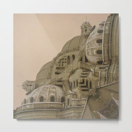 Architecture Fragmentation Metal Print