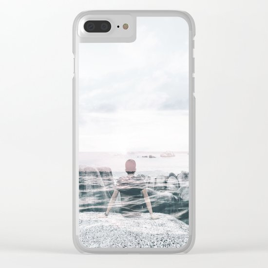 Sea Gaze Clear iPhone Case