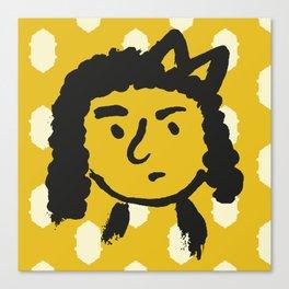 grumpy 'tude Canvas Print