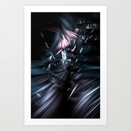 Oscillating Shards  Art Print
