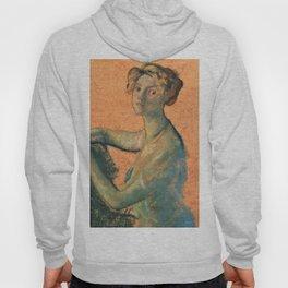 Woman With Orange Background - Arthur Bowen Davies Hoody