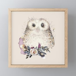 Boho Illustration- Be Wise Little Owl Framed Mini Art Print