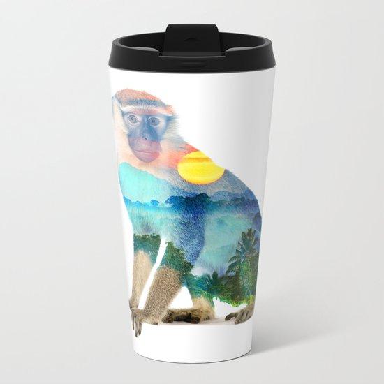 Monkey Nature Metal Travel Mug