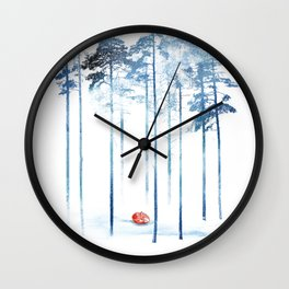 Sleeping in the woods Wall Clock